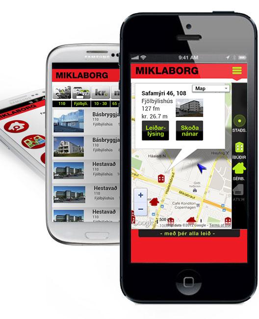 Miklaborg mobile website